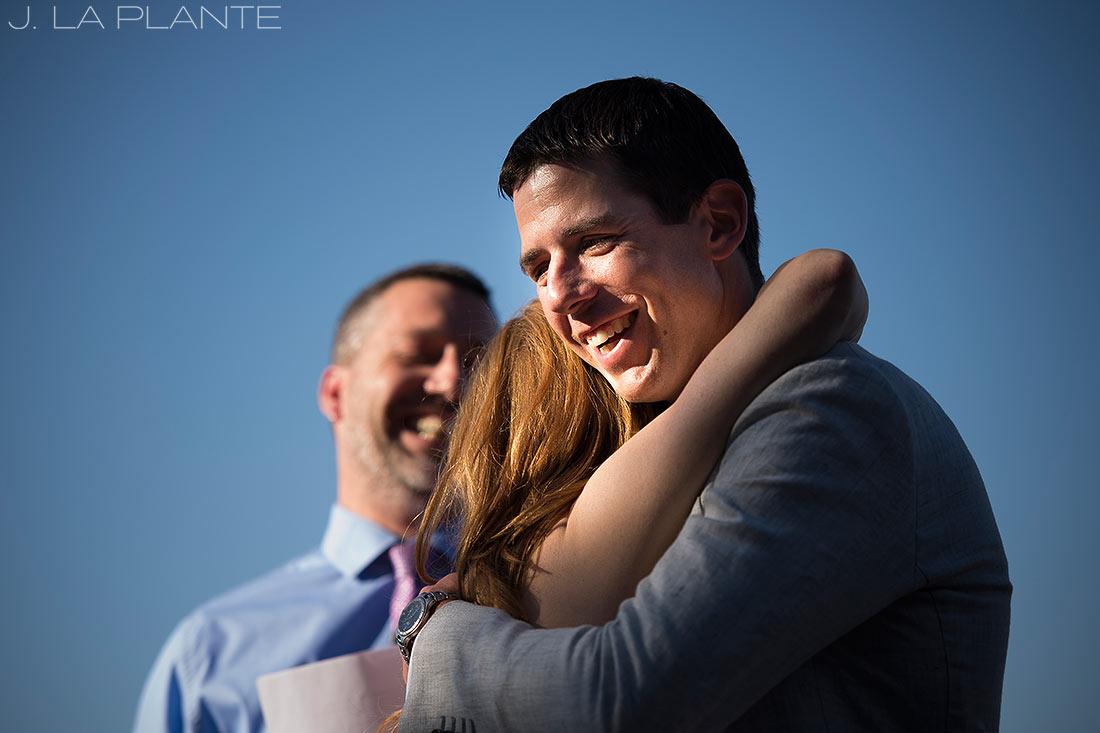Mount Vernon Country Club Wedding   Groom's reaction to first kiss   Denver wedding photographer   J La Plante Photo