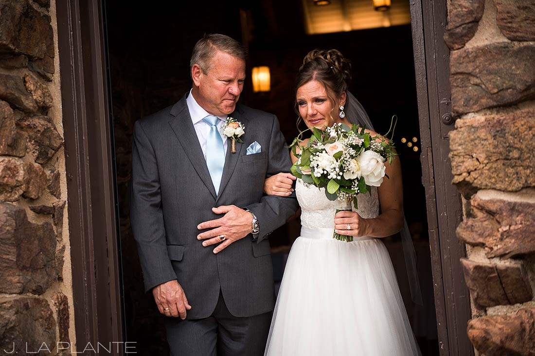 Boettcher Mansion wedding | Father walking bride down aisle | J La Plante Photo | Denver Wedding Photographer