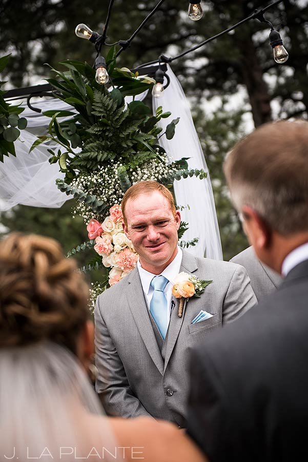 Boettcher Mansion wedding | Groom seeing bride for first time | J La Plante Photo | Denver Wedding Photographer