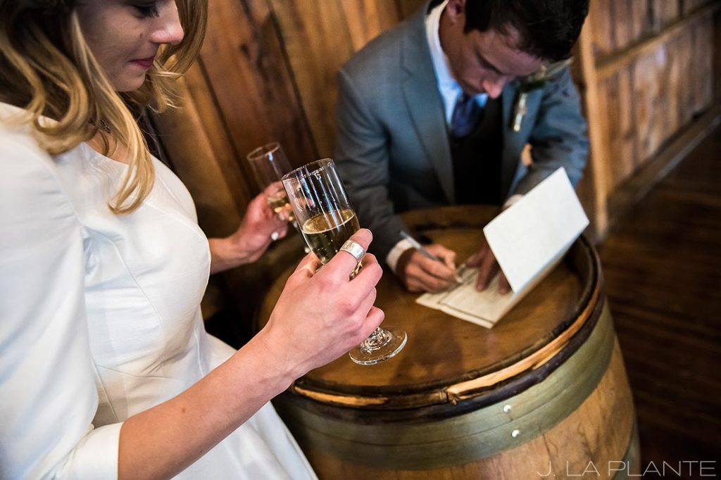 Signing the marriage license   Crooked Willow Farms Wedding   Denver Wedding Photographer   J La Plante Photo