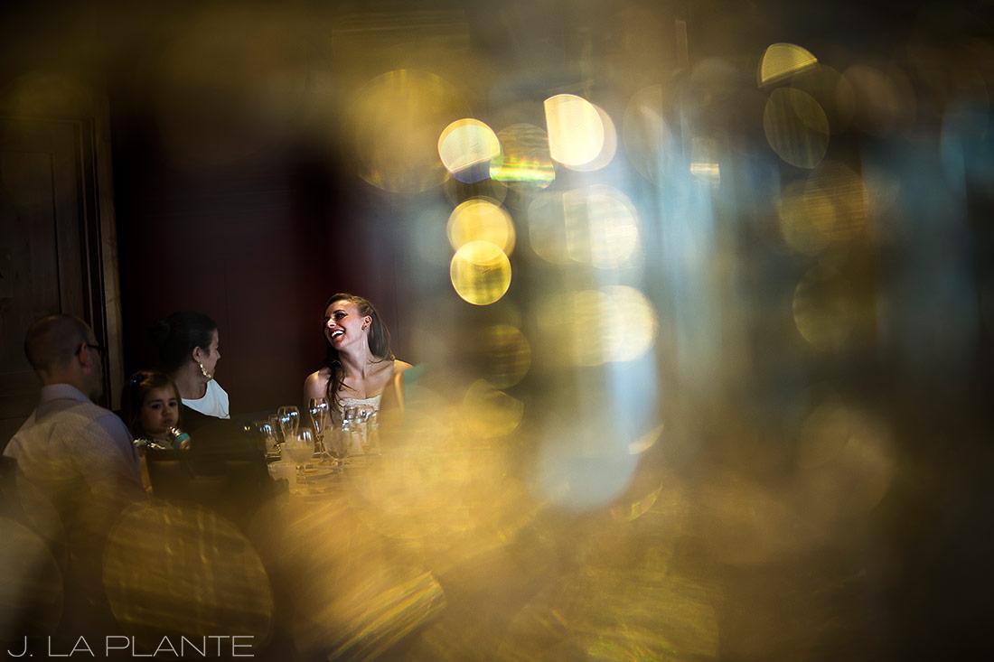 Mount Vernon Country Club Wedding   Bride talking to guests   Denver wedding photographer   J La Plante Photo