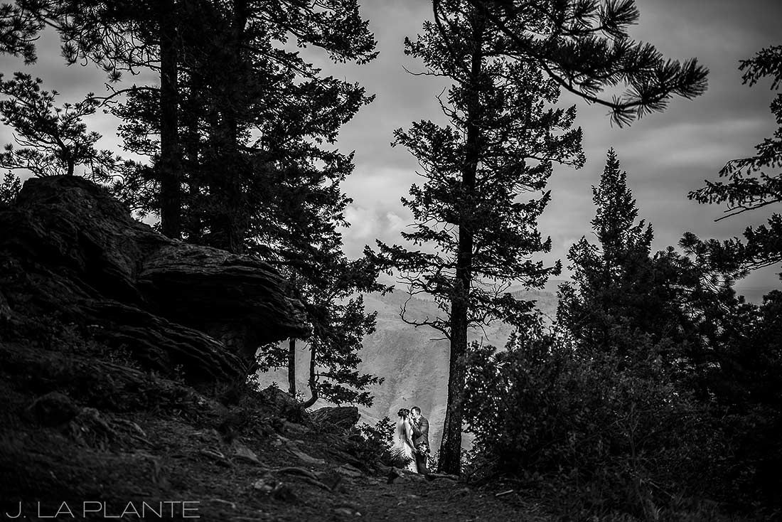 Boettcher Mansion wedding | Bride and groom in mountains | J La Plante Photo | Denver Wedding Photographer
