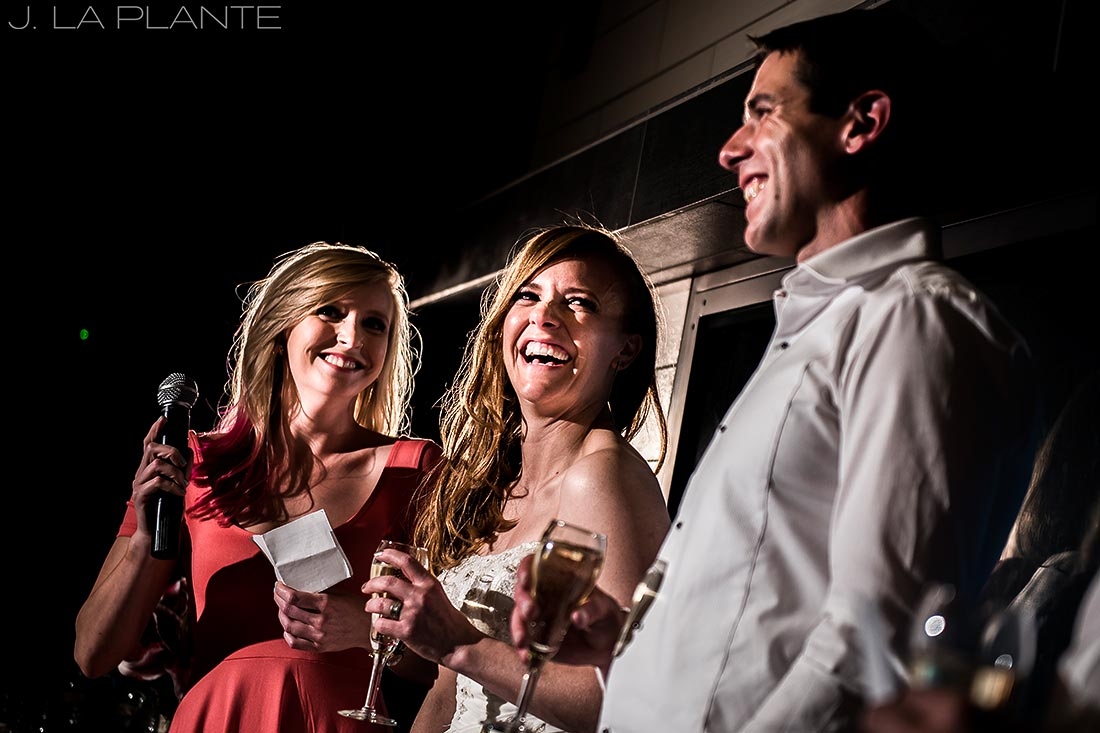Mount Vernon Country Club Wedding   Maid of honor toast   Denver wedding photographer   J La Plante Photo