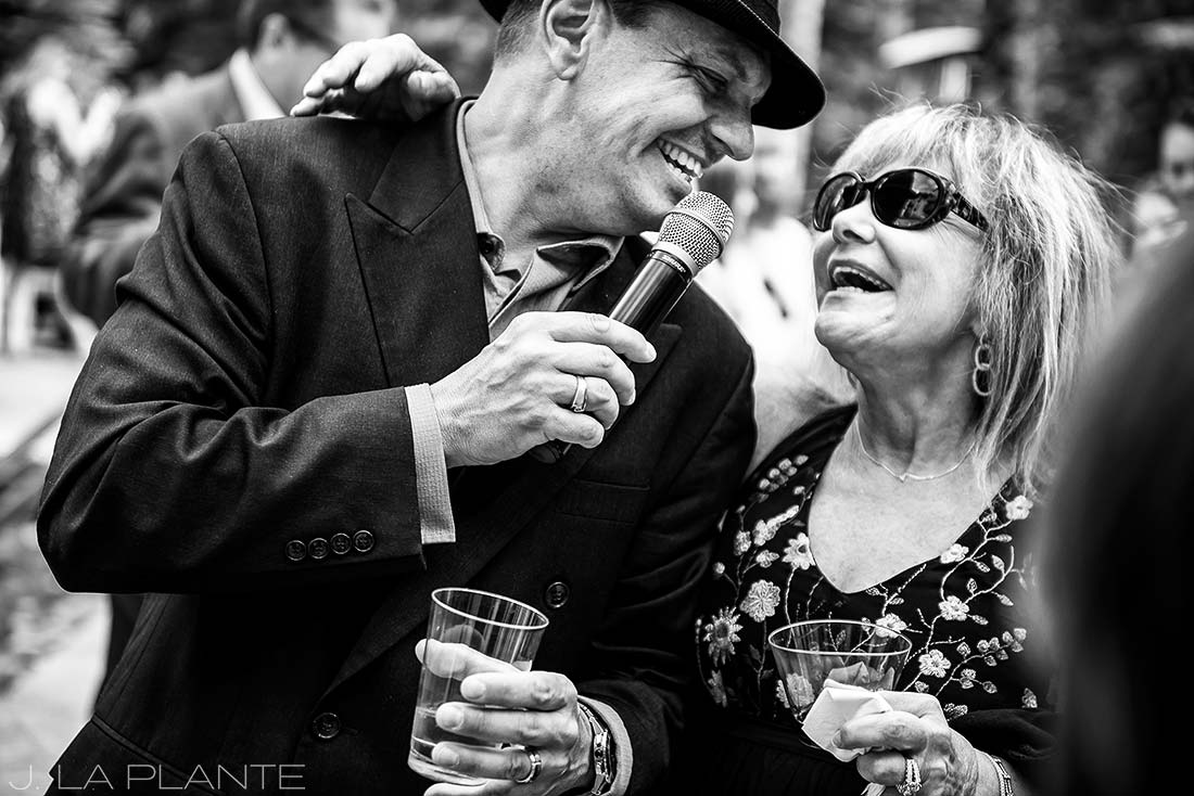 Sonnenalp Wedding | Frank Sinatra impersonator | Vail wedding photographer | J La Plante Photo