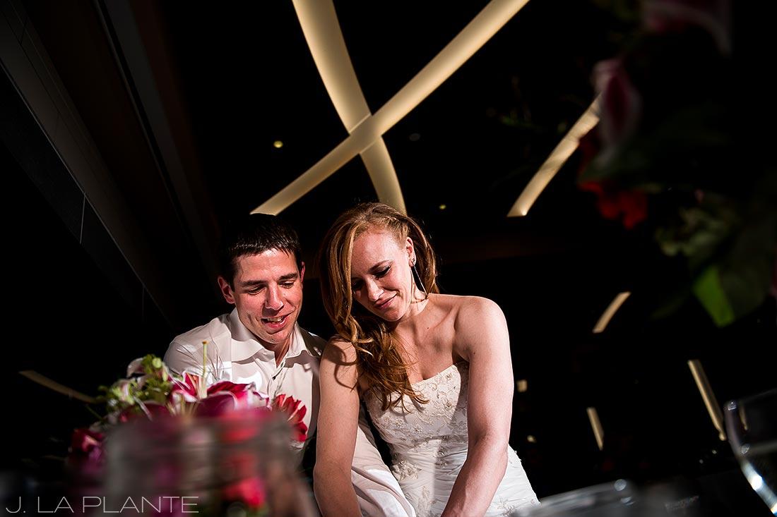Mount Vernon Country Club Wedding   Cake cutting   Denver wedding photographer   J La Plante Photo