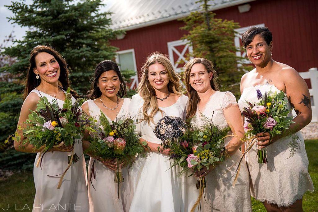 Bridesmaid photo   Crooked Willow Farms Wedding   Denver Wedding Photographer   J La Plante Photo