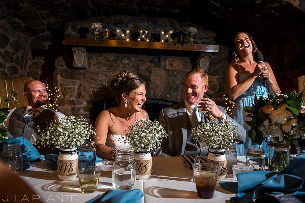 Boettcher Mansion wedding | Maid of Honor toast | J La Plante Photo | Denver Wedding Photographer