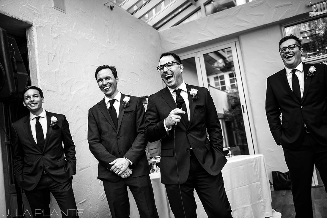 Sonnenalp Wedding | Best man toast | Vail wedding photographer | J La Plante Photo