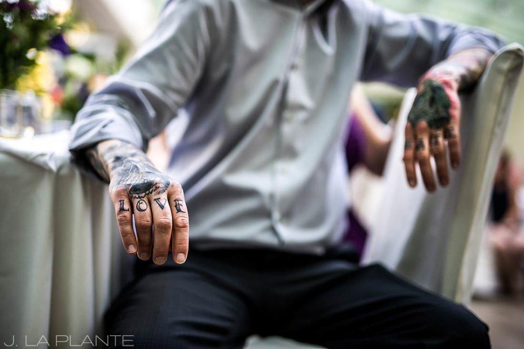 Sonnenalp Wedding | Love and Hate tattoos | Vail wedding photographer | J La Plante Photo
