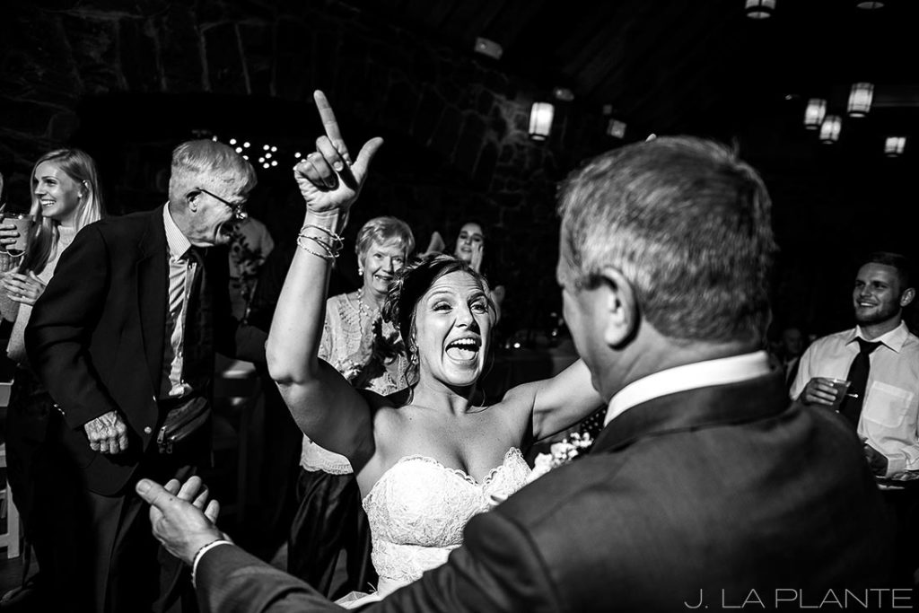 bride on the dance floor with father