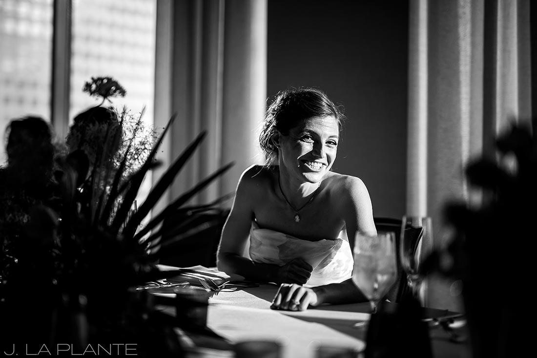 Grand Hyatt Denver Wedding   Bride at reception   Same Sex Wedding Photographer   J La Plante Photo