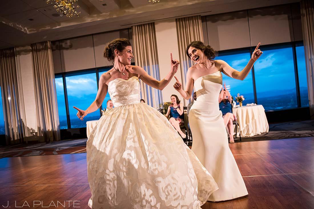 Grand Hyatt Denver Wedding   First dance   Same Sex Wedding Photographer   J La Plante Photo