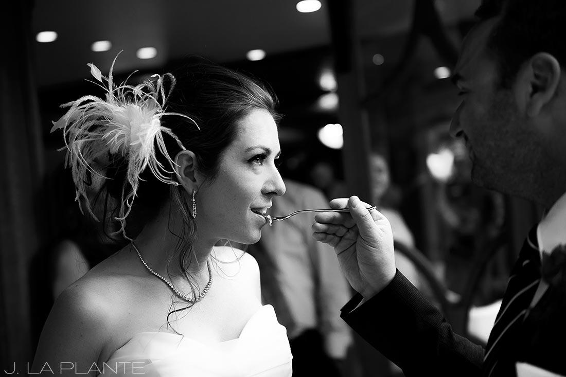 Sonnenalp Wedding | Cake cutting | Vail wedding photographer | J La Plante Photo