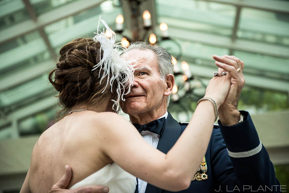 Sonnenalp Wedding | Father Daughter dance | Vail wedding photographer | J La Plante Photo