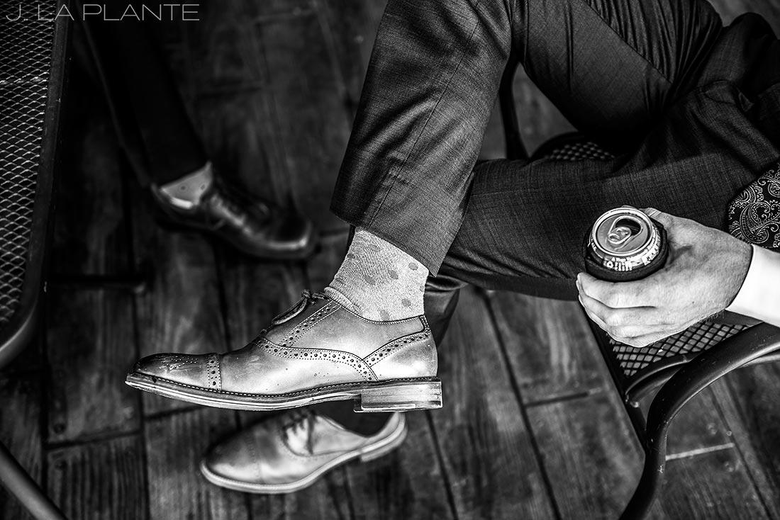 Edgewood Inn Wedding   Colorado Springs Wedding Photographer   Cool groomsmen socks   J La Plante Photo
