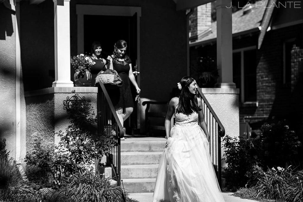 Washington Park Wedding   Bride leaving house   Denver wedding photographer   J La Plante Photo