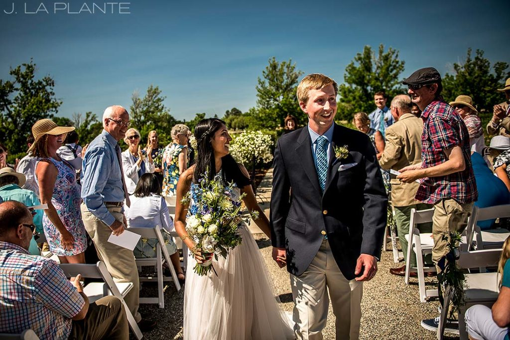 Washington Park Wedding   Happy bride and groom   Denver wedding photographer   J La Plante Photo