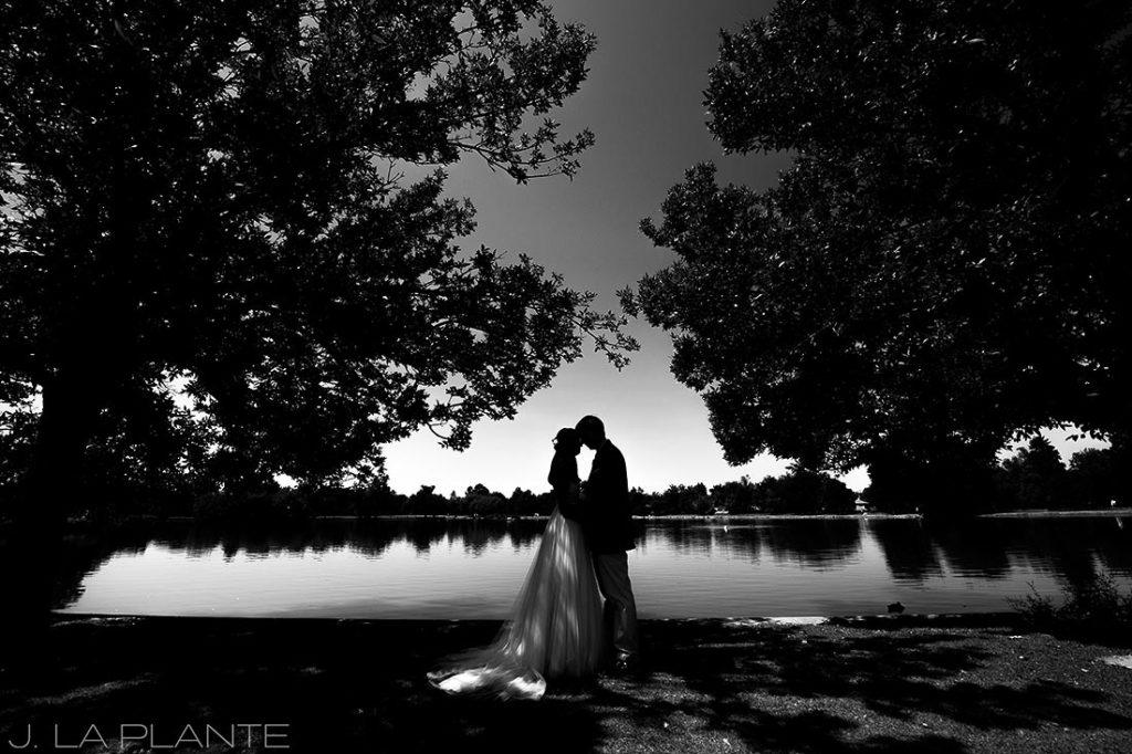 Washington Park Wedding   Beautiful black and white wedding photo   Denver wedding photographer   J La Plante Photo