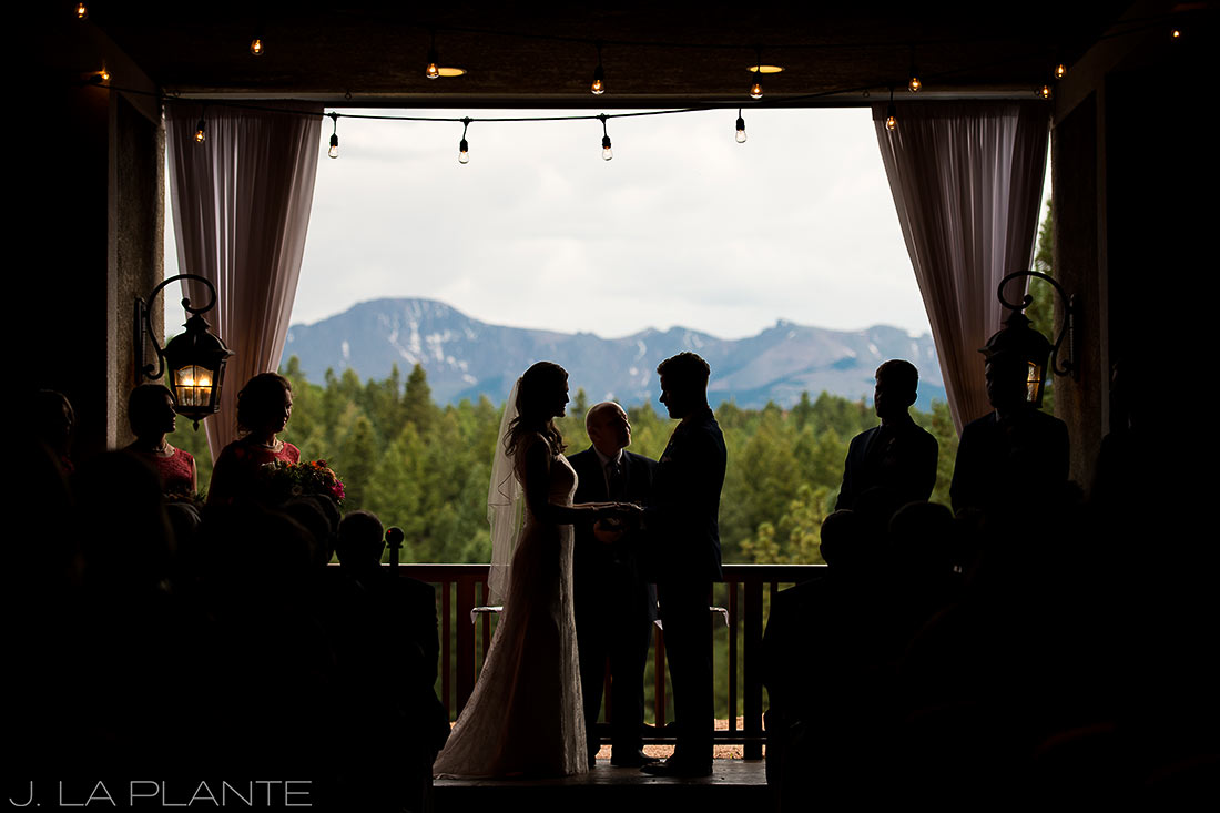 Edgewood Inn Wedding   Colorado Springs Wedding Photographer   Wedding ceremony   J La Plante Photo