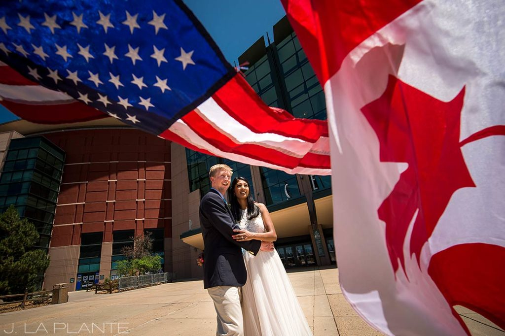 Pepsi Center Wedding   Bride and groom photo   Denver wedding photographer   J La Plante Photo