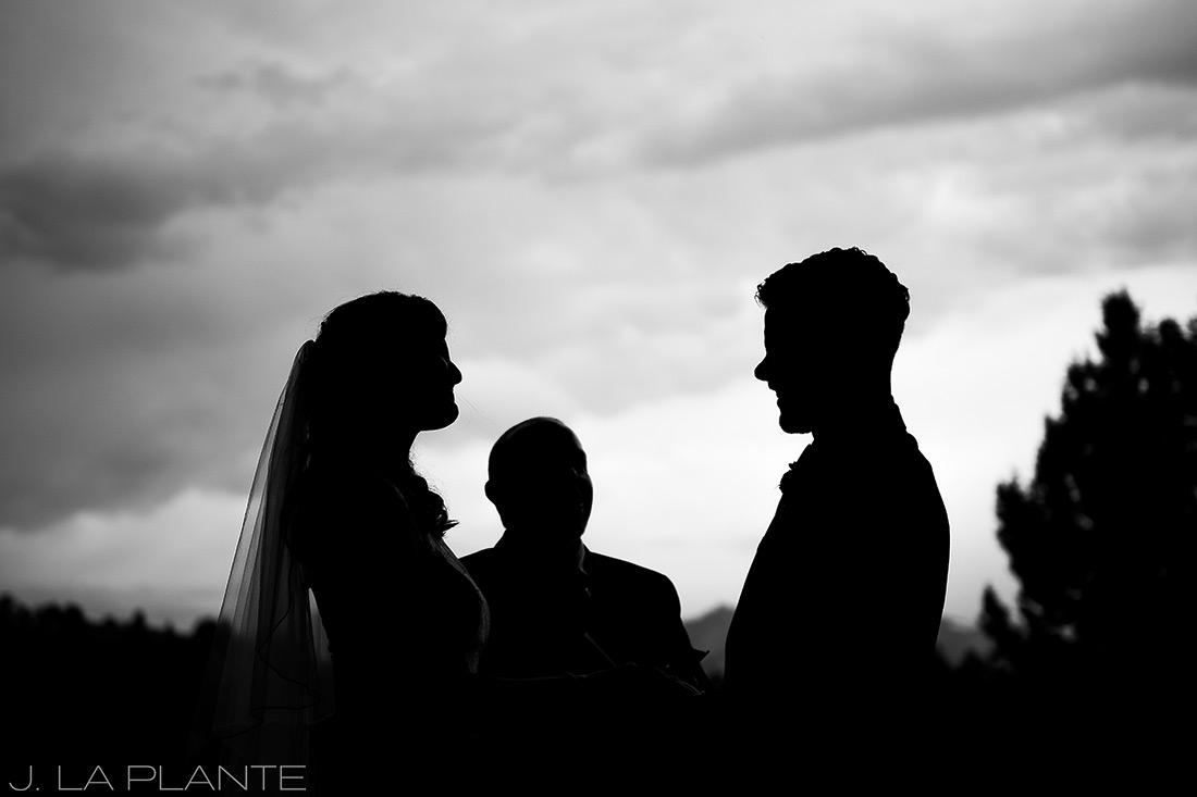 Edgewood Inn Wedding   Colorado Springs Wedding Photographer   Bride and groom silhouette   J La Plante Photo