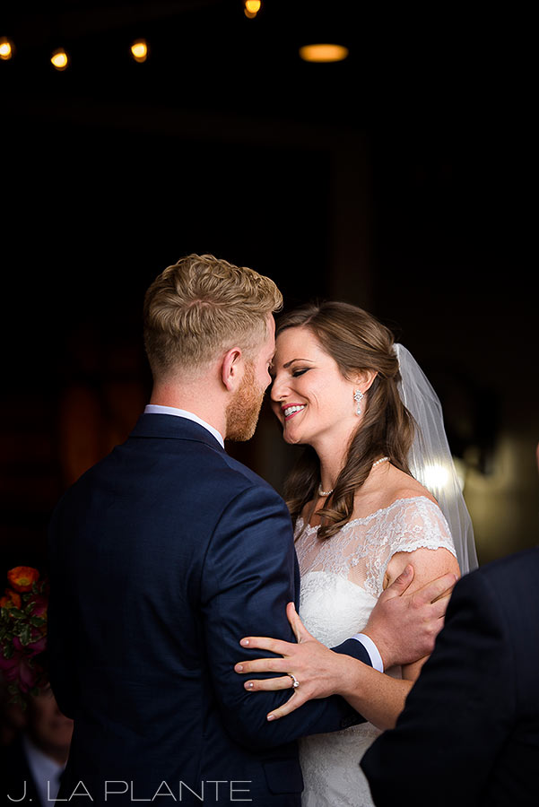 Edgewood Inn Wedding   Colorado Springs Wedding Photographer   First kiss   J La Plante Photo