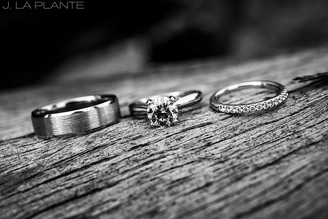 Edgewood Inn Wedding   Colorado Springs Wedding Photographer   Wedding rings   J La Plante Photo