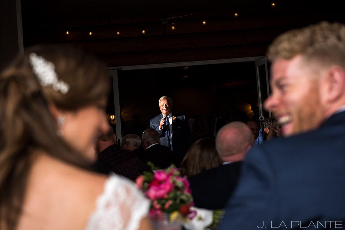 Edgewood Inn Wedding   Colorado Springs Wedding Photographer   Father of the groom speech   J La Plante Photo