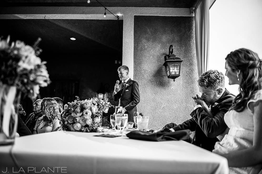 Edgewood Inn Wedding   Colorado Springs Wedding Photographer   Best man speech   J La Plante Photo