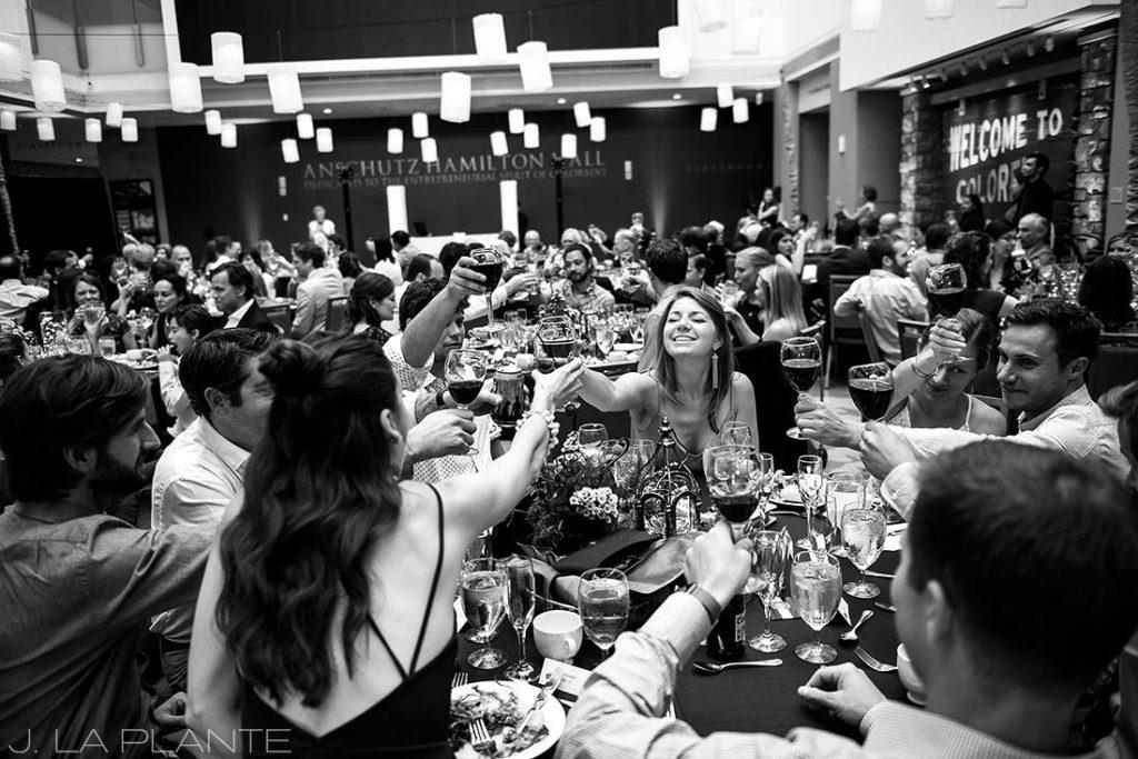 History Colorado Wedding   Wedding toasts   Denver wedding photographer   J La Plante Photo