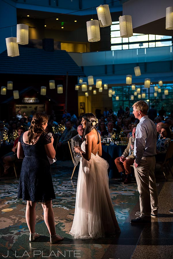 History Colorado Wedding | Maid of Honor speech | Denver wedding photographer | J La Plante Photo