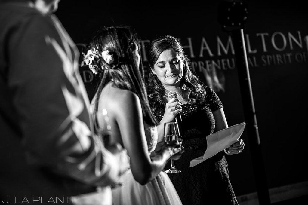 History Colorado Wedding   Maid of Honor speech   Denver wedding photographer   J La Plante Photo