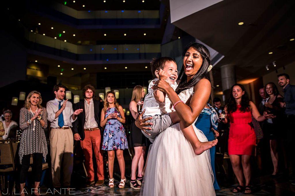 History Colorado Wedding   Bride dancing with ring bearer   Denver wedding photographer   J La Plante Photo