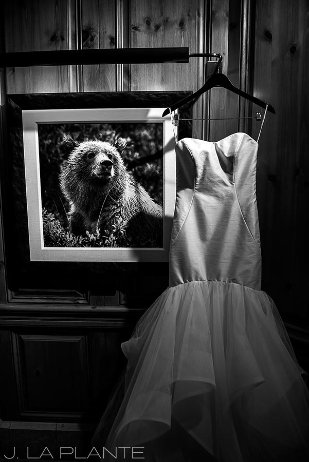 Beaver Creek Wedding deck ceremony | Hayley Paige wedding dress | Beaver Creek wedding photographer | J La Plante Photo