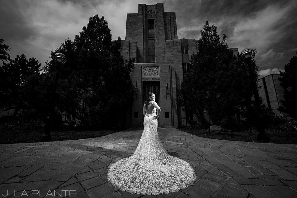Greenbriar Inn wedding | Bride and groom on Boulder Pearl Street | Boulder wedding photographer | J La Plante Photo