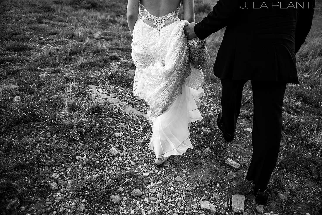 Greenbriar Inn wedding | Bride and groom hiking | Boulder wedding photographer | J La Plante Photo