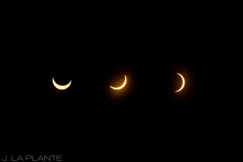 Solar eclipse engagement shoot | Eclipse phases | Vail engagement photographer | J La Plante Photo