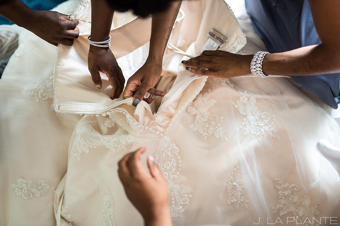 JW Marriott Cherry Creek Wedding | Bride getting ready | Denver wedding photographer | J La Plante Photo