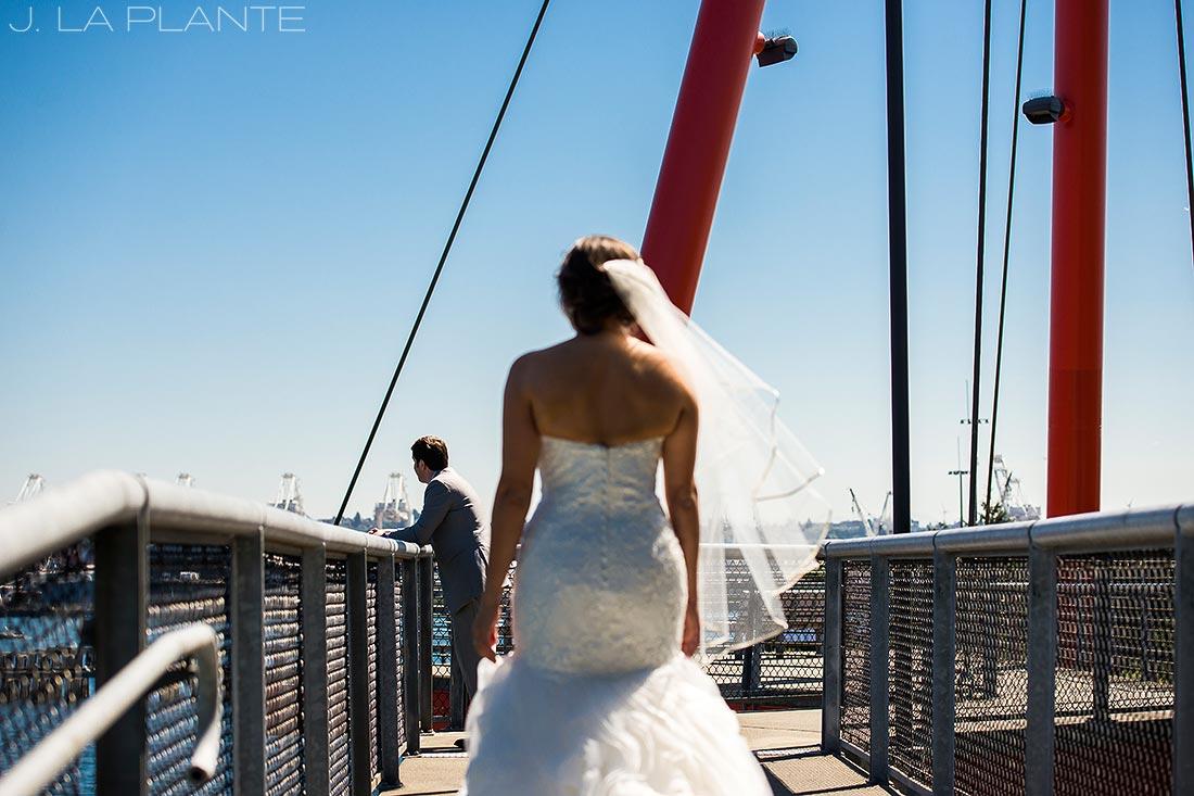 Seattle wedding | First look | Seattle destination wedding photographer | J La Plante Photo