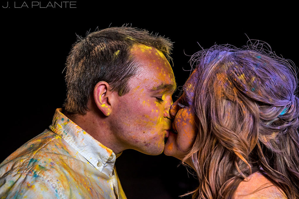 Holi Powder Engagement Session   Denver wedding photographer   J La Plante Photo