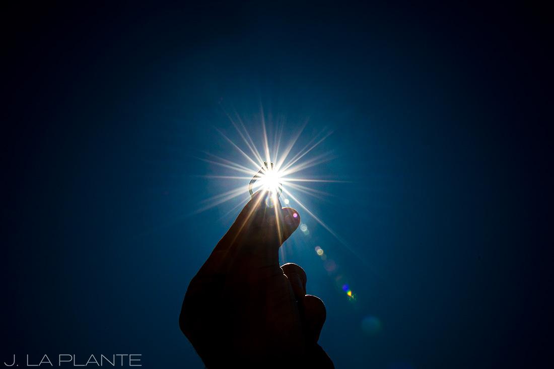 Solar eclipse engagement shoot | Engagement ring | Vail engagement photographer | J La Plante Photo