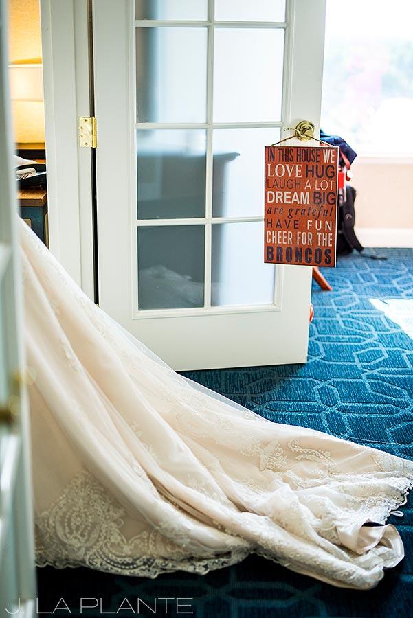 JW Marriott Cherry Creek Wedding | Wedding dress train | Denver wedding photographer | J La Plante Photo