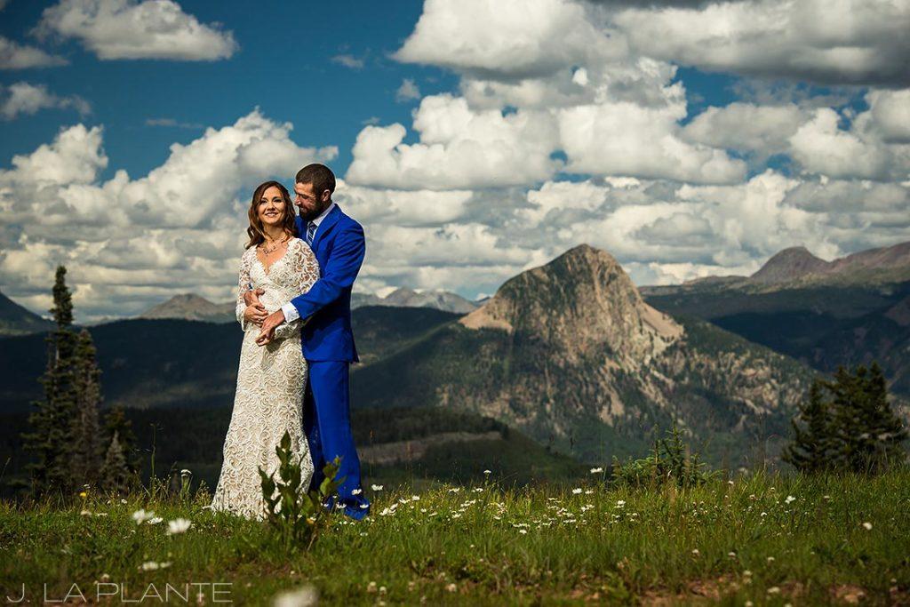 Purgatory Resort wedding | Bride and groom in mountains | Colorado wedding photographer | J La Plante Photo