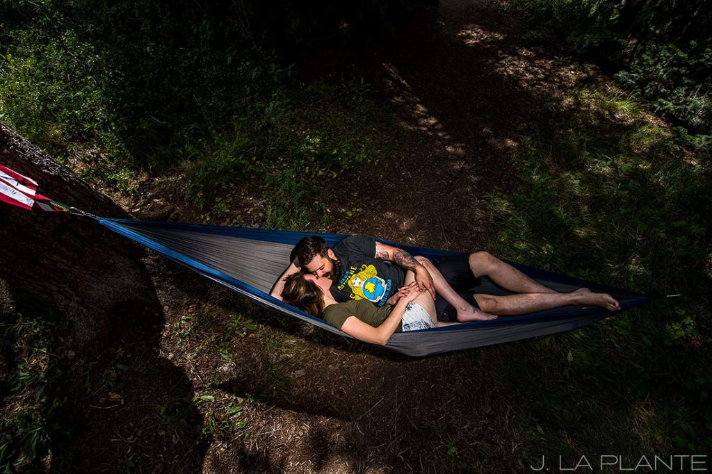 Camping engagement shoot | Vail engagement photographer | J La Plante Photo