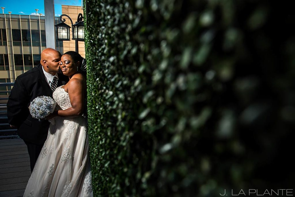 JW Marriott Cherry Creek Wedding | Bride and groom portrait | Denver wedding photographer | J La Plante Photo