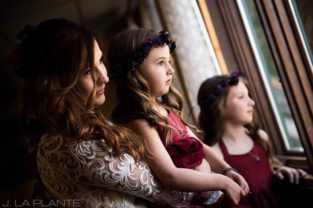 Purgatory Resort wedding | Bride waiting to walk down aisle | Colorado wedding photographer | J La Plante Photo