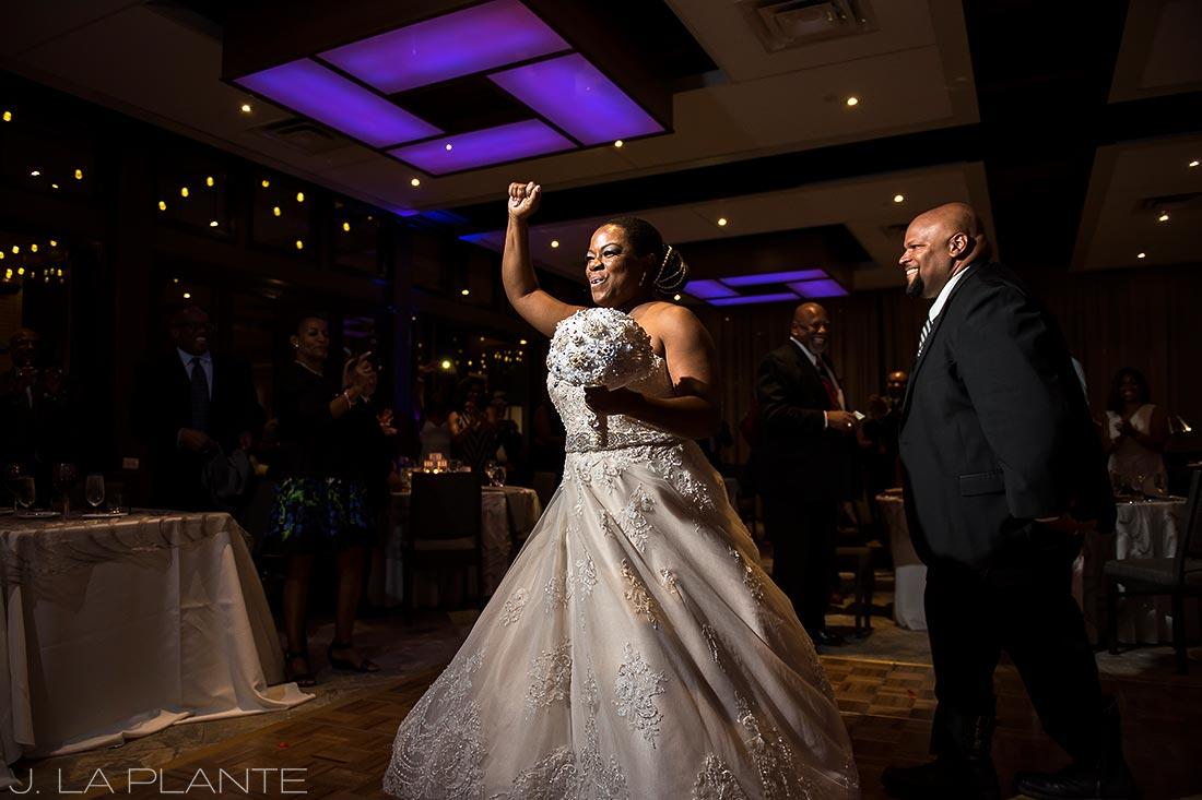 JW Marriott Cherry Creek Wedding | Bride and groom entrance | Denver wedding photographer | J La Plante Photo
