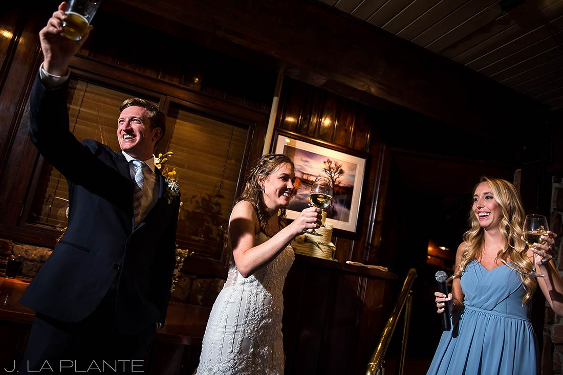 Greenbriar Inn wedding | Maid of honor toast | Boulder wedding photographer | J La Plante Photo