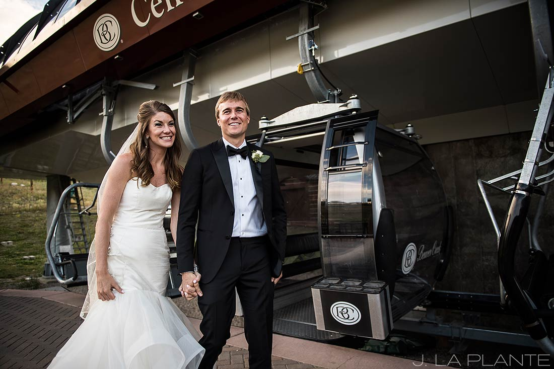 Park Hyatt Wedding | Bride and groom on gondola | Beaver Creek wedding photographer | J La Plante Photo