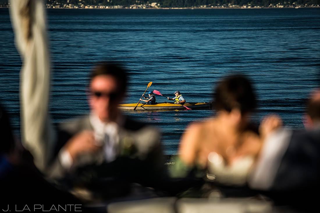 Vashon Island Wedding | Kayakers | Seattle destination wedding photographer | J La Plante Photo